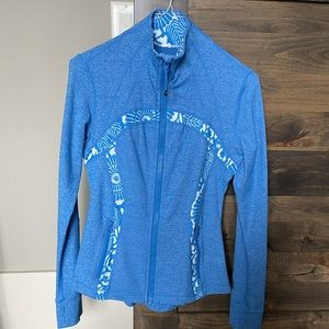 Lululemon define jacket blue beachy floral zip up